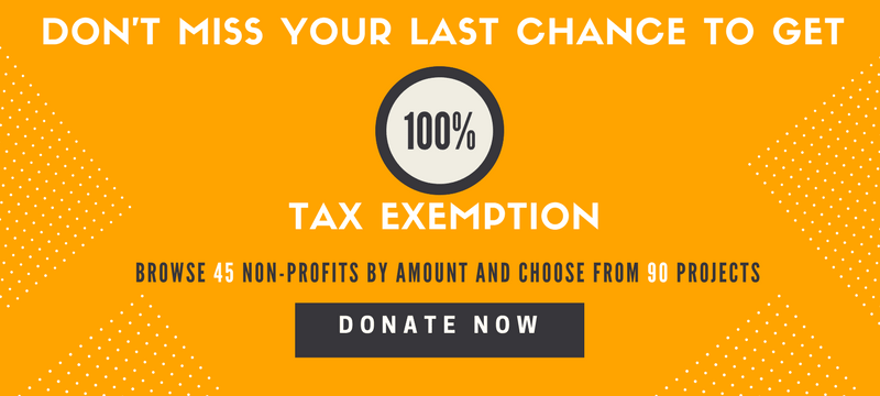 Fund High Impact Non-profits and get 100% Tax Exemption.